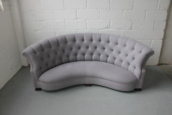 curved buttoned back sofa. Black Bedroom Furniture Sets. Home Design Ideas